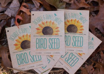 Double G Sunflowers Bird Seed Tags
