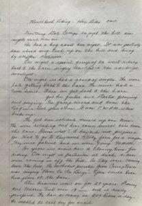 Page 3 handwritten horseback riding
