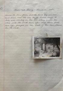 Page 5 Handwritten memories horseback riding